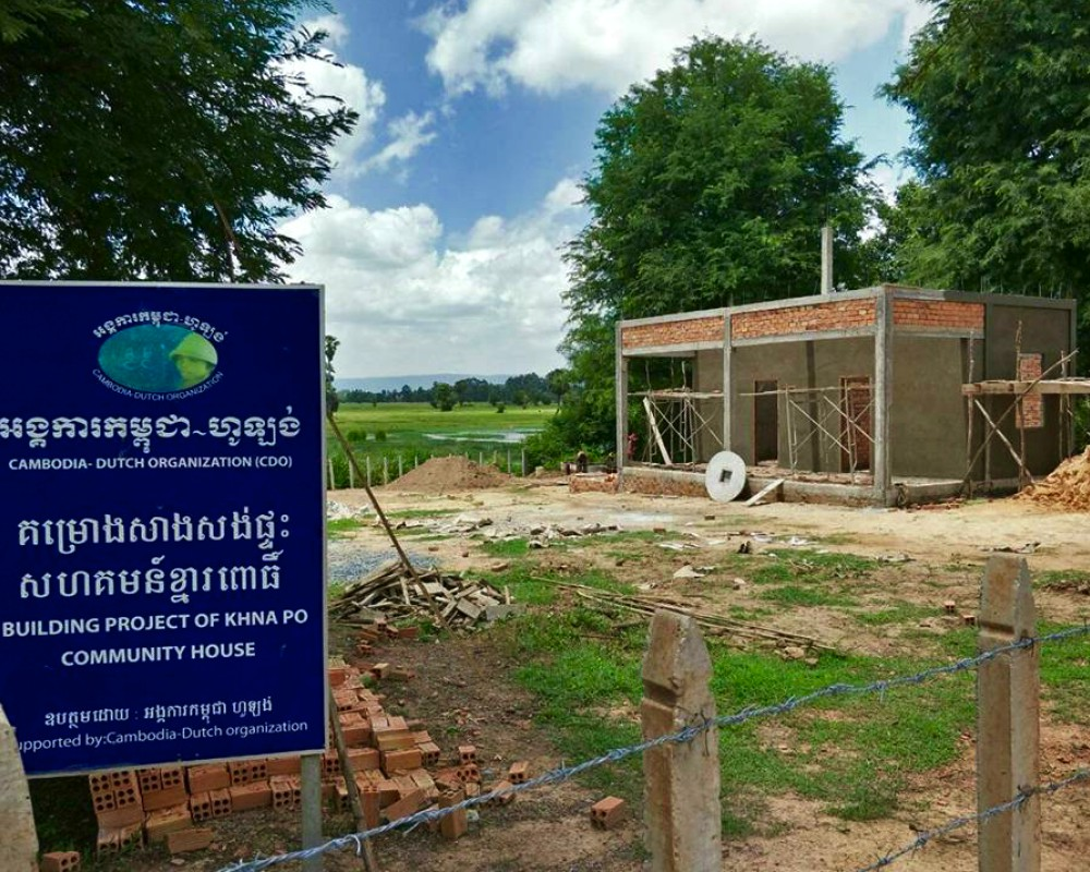 Bouwprojecten Cambodja zomer 2017