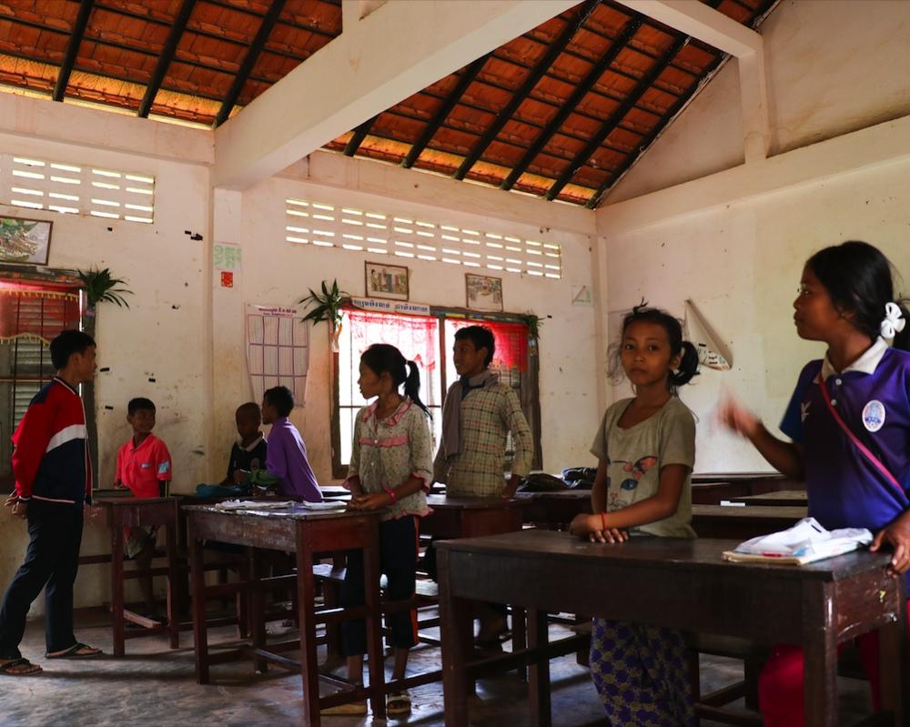 Schoolklas Cambodja